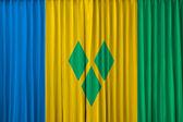 Bandeira de são vicente e granadinas na cortina — Fotografia Stock