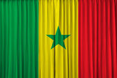 Senegal flag on curtain — Stock Photo