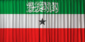 Somaliland flag on curtain — Stock Photo