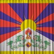 Tibet flag on curtain — Stock Photo
