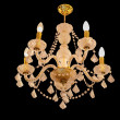 Crystal chandelier on ceiling — 图库照片