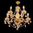 Crystal chandelier on ceiling — Stockfoto