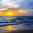 Sunset and beach — Foto Stock
