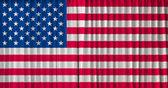 Stany zjednoczone ameryki flaga na zasłony — Zdjęcie stockowe