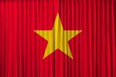 Vietnam flag on curtain — Stock Photo