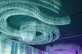 クリスタル シャンデリア天井 — ストック写真