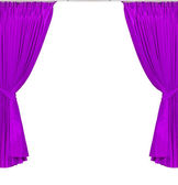 Violet or magenta curtains — Stock Photo