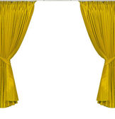 Yellow curtains — Stock Photo