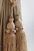 Luxury curtain and tassel — Stock Photo