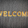 Carpet welcome mat — Stock Photo