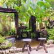 Small pond and garden — Stock Photo #43795759