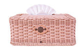 Tissue box, plastic wicker  — Stockfoto