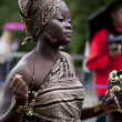 Warsaw, august 26, 2012,-Afro  dancers on Warsaw Multicultural Street Parade — Stock Photo