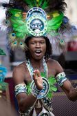 Warsaw, august 26, 2012,-Carnival dancers on Warsaw Multicultural Street Parade — Stock Photo