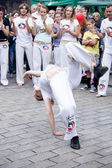 Warsaw, august 26, 2012,-Capoeira on Warsaw Multicultural Street Parade — Stock Photo