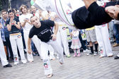 Warsaw, august 26, 2012,-Capoeira on Warsaw Multicultural Street Parade — Foto Stock