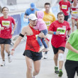 Warsaw, Poland, September 30: Unidentified runners on 34. Warsaw Marathon on September 30, 2012, Warsaw, Poland - Stock Photo