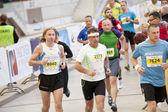 Warsaw, Poland, September 30: Unidentified runners on 34. Warsaw Marathon on September 30, 2012, Warsaw, Poland — Stock Photo
