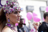 WARSAW, POLAND, AUGUST 26: Unidentified Carnival dancer on the parade on Warsaw Multicultural Street Parade on August 26, 2012 in Warsaw, Poland. — Photo