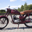 "Stock Photo: WARSAW - August 25: Old polish motorcycle ""Jawa"" on motobazaar. August 25, 2013 in Warsaw, Poland."