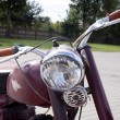 "Stock Photo: WARSAW - August 25: Old polish motorcycle ""WSK"" on motobazaar. August 25, 2013 in Warsaw, Poland."