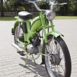 "Stock Photo: WARSAW - August 25: Old polish motorcycle ""Komar"" on motobazaar. August 25, 2013 in Warsaw, Poland."