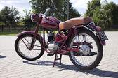 """Warschau - august 25: alte polnische motorrad """"wfm"""" auf motobazaar. august 25, 2013 in warschau, polen. — Stockfoto"""