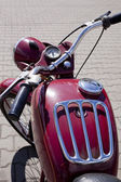 "WARSAW - August 25: Old polish motorcycle ""WSK"" on motobazaar. August 25, 2013 in Warsaw, Poland. — Foto de Stock"