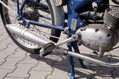 ": WARSAW - August 25: Old polish motorcycle ""Komar"" on motobazaar. August 25, 2013 in Warsaw, Poland. — ストック写真"