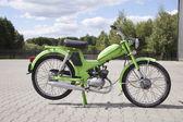 ": WARSAW - August 25: Old polish motorcycle ""Komar"" on motobazaar. August 25, 2013 in Warsaw, Poland. — Stockfoto"