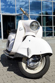 "WARSAW - August 25: Old polish motorcycle ""Osa"" on motobazaar. August 25, 2013 in Warsaw, Poland. — Stock Photo"