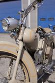 "WARSAW - August 25: Old motorcycle ""Simson SR2"" on motobazaar. August 25, 2013 in Warsaw, Poland. — Stock Photo"