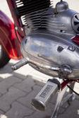 "WARSAW - August 25: Old polish motorcycle ""Jawa"" on motobazaar. August 25, 2013 in Warsaw, Poland. — Stockfoto"