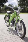 """Warschau - august 25: alte polnische motorrad """"komar"""" auf motobazaar. august 25, 2013 in warschau, polen. — Stockfoto"""