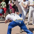 WARSAW, POLAND, june 8: Unidentified capoeira sportsmen on the XII Brazilian Festival on June 8, 2014 in Warsaw, Poland. — Stock Photo #48278485