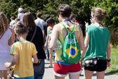 "WARSAW, POLAND - JUNE 8: people watching XII Brazilian Festival ""Bom Dia Brasil"" , Poland on June 8 2014 — Stock Photo"