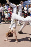 WARSAW, POLAND, june 8: Unidentified capoeira sportsmen on the XII Brazilian Festival on June 8, 2014 in Warsaw, Poland. — Stock fotografie