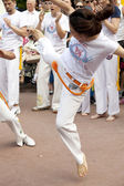 WARSAW, POLAND, june 8: Unidentified capoeira sportsmen on the XII Brazilian Festival on June 8, 2014 in Warsaw, Poland. — Stockfoto