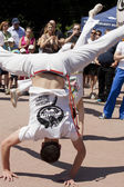 WARSAW, POLAND, june 8: Unidentified capoeira sportsmen on the XII Brazilian Festival on June 8, 2014 in Warsaw, Poland. — ストック写真