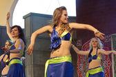 Warschau, Polen, Mai 30: Unidentified orientalische Tänzerin auf der Bühne in Orientalny Koktajl - Oriental Coctail Festivale am 30. Mai 2014 in Warschau, Polen. — Stockfoto