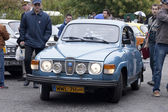 WARSAW - September 28: Old Saab car on Oldtimers meeting.September 28, 2013 in Warsaw, Poland. — Stock Photo