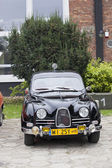 WARSAW - September 28: Old Saab car on Oldtimers meeting.September 28, 2013 in Warsaw, Poland. — Stockfoto