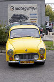 WARSAW - September 28: Old polish car Syrena on Oldtimers meeting.September 28, 2013 in Warsaw, Poland. — Stockfoto