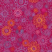 Barevné květy bezešvá textura — Stock vektor