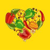 Pepper Heart — Stock Vector