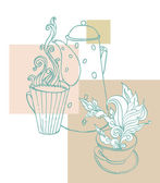 Cup of aromatic tea — Vector de stock