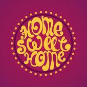 Home sweet home, vektör arka plan illüstrasyon — Stok Vektör