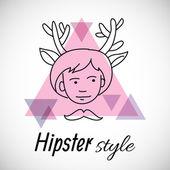 Design des personnages hipster — Vecteur