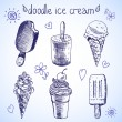 Doodle ice cream frozen dessert style sketch — Stock Vector #46942373