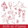 Doodle business people — Stock Vector